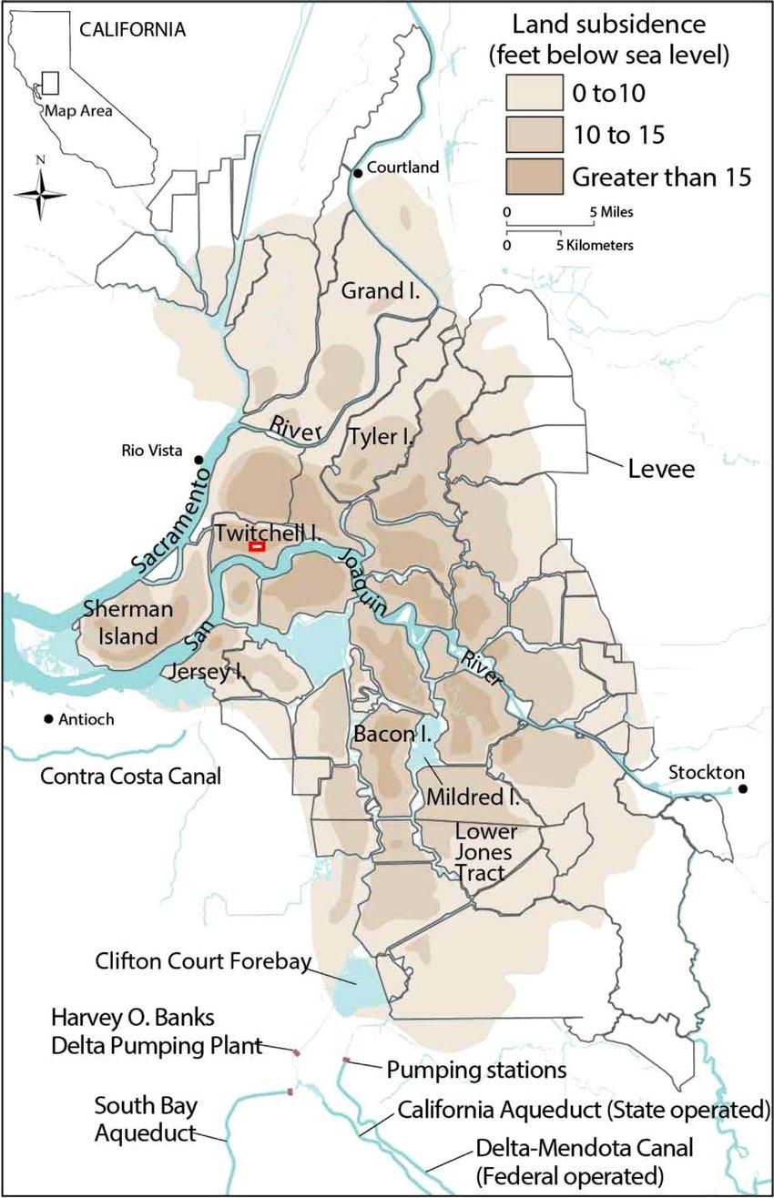 Location Of California's Sacramento-San Joaquin Delta Wetlands With - California Delta Map Download