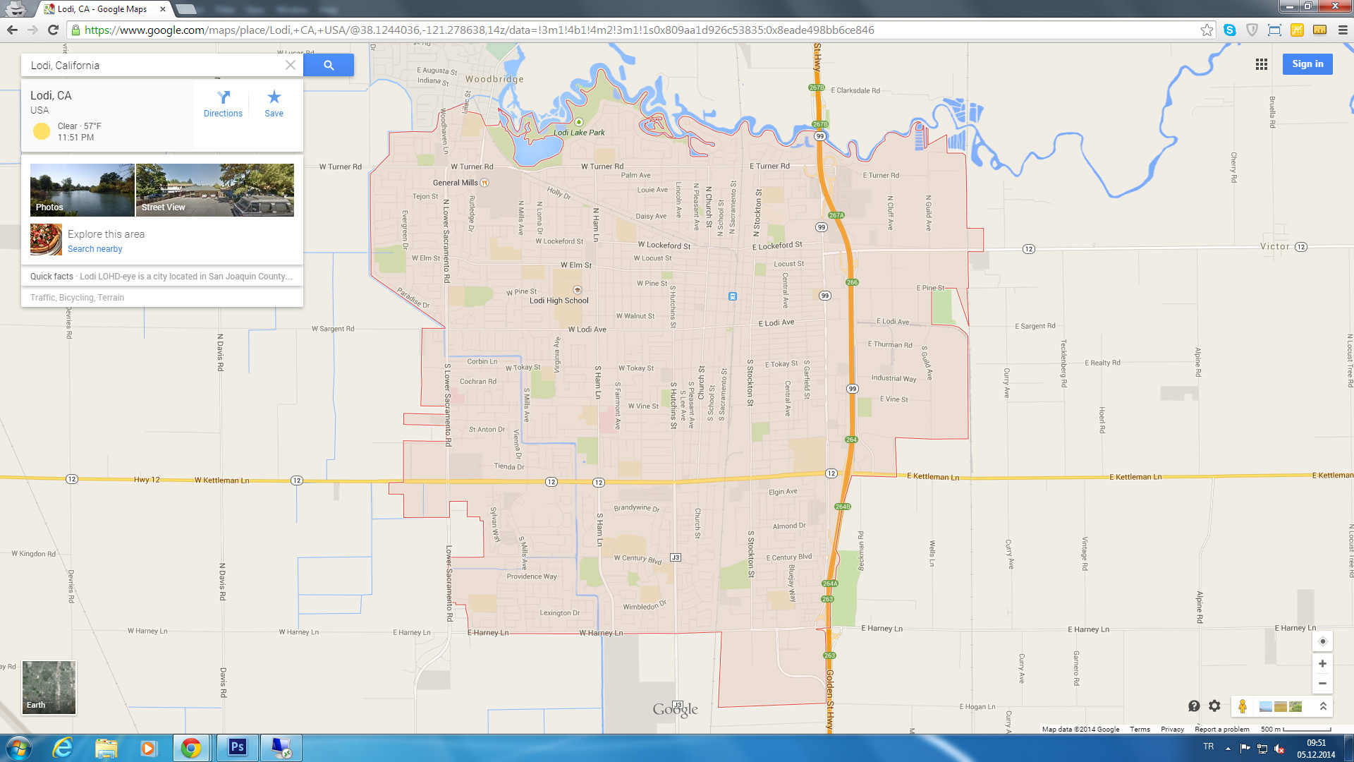 Lodi Map - Falsomesias - Lodi California Map