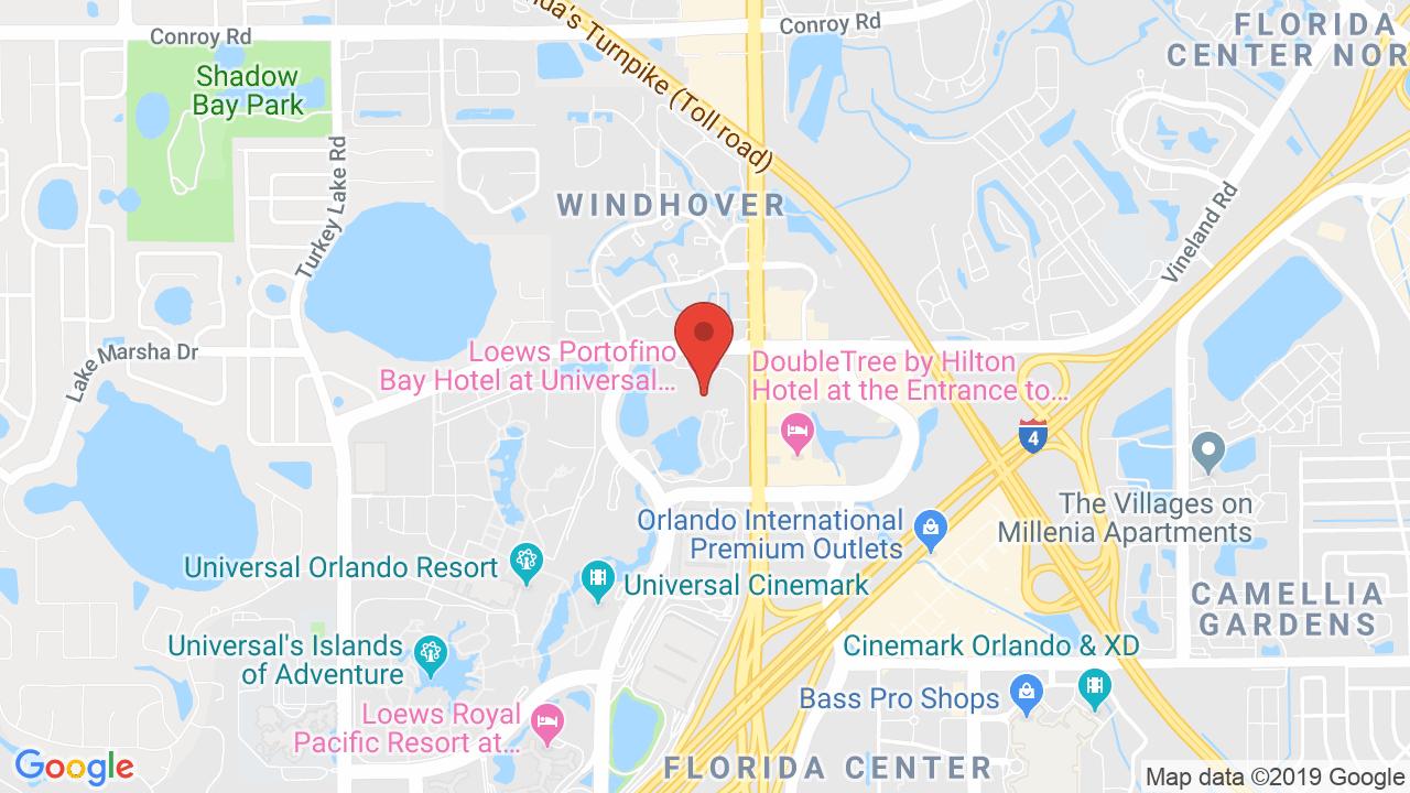 Loews Portofino Bay Hotel - Shows, Tickets, Map, Directions - Portofino Florida Map