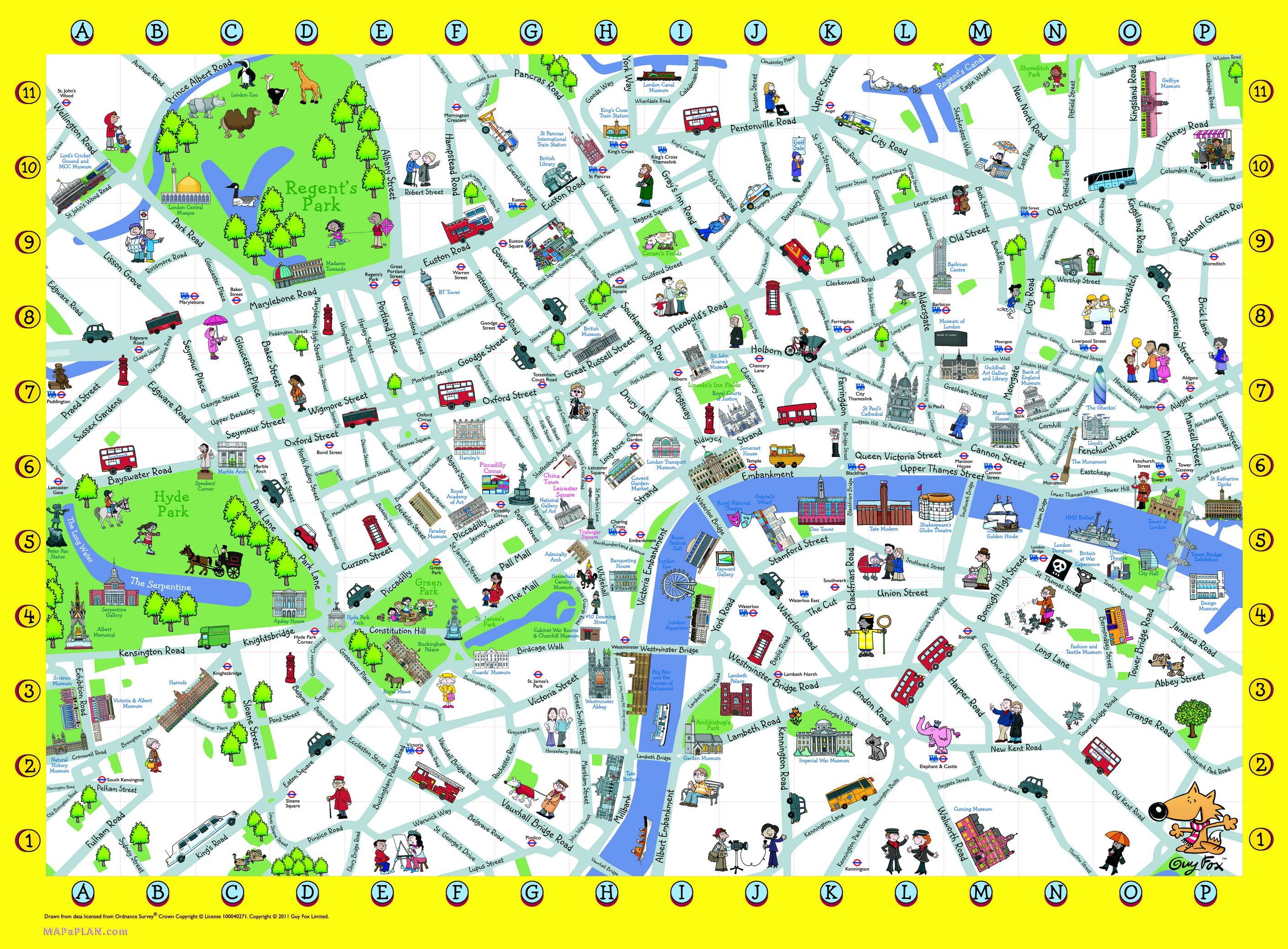 London Detailed Landmark Map   London Maps - Top Tourist Attractions - Free Printable Tourist Map London