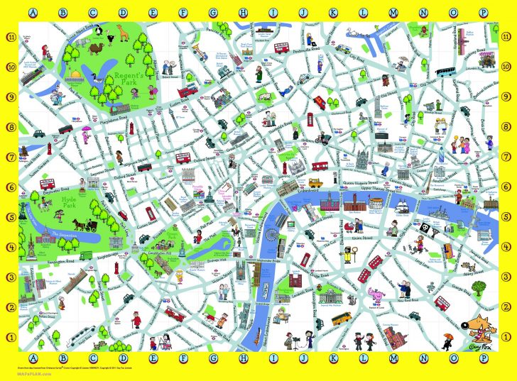 Printable Map Of London England