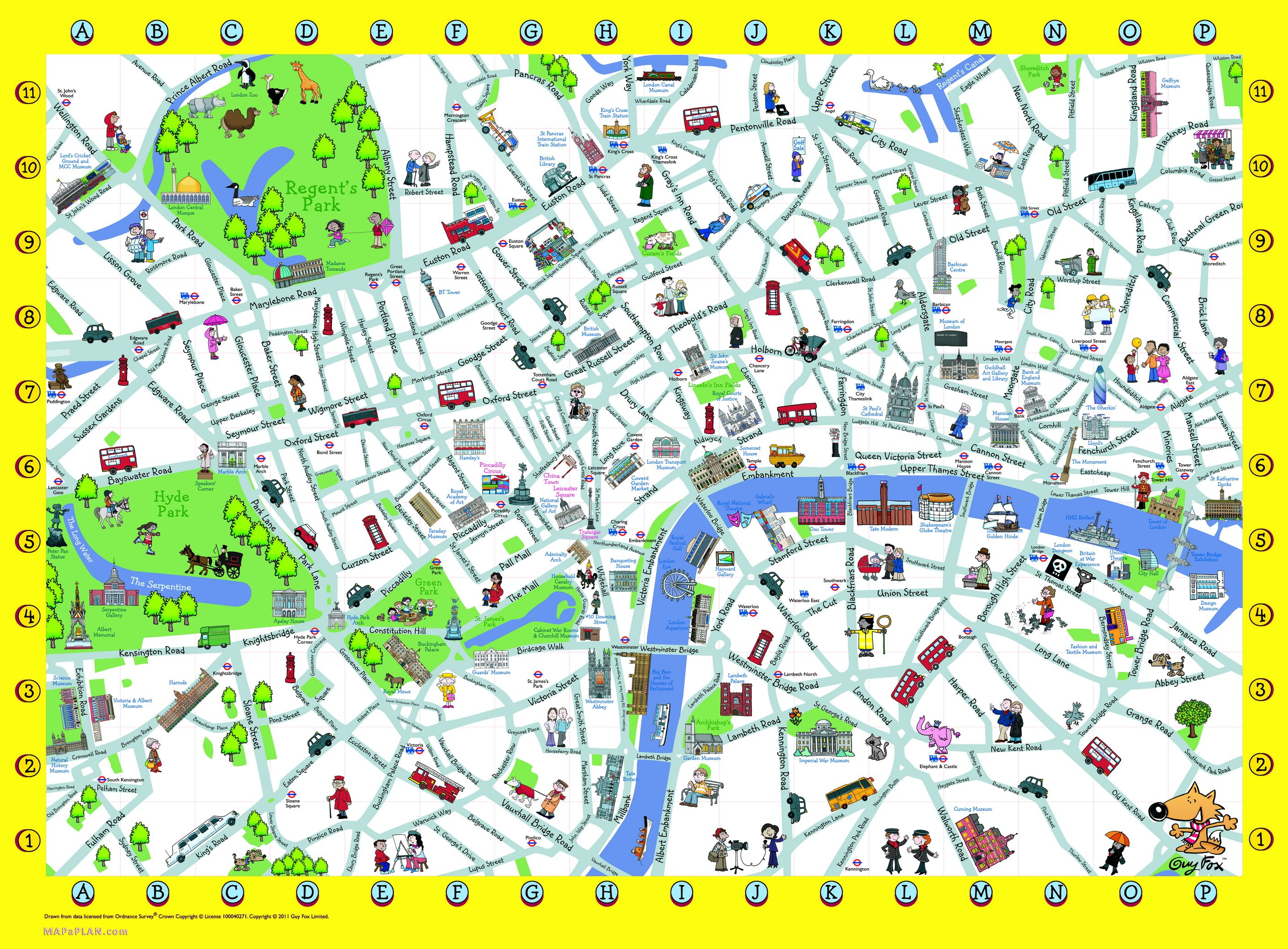 London Detailed Landmark Map | London Maps - Top Tourist Attractions - Printable Map Of London