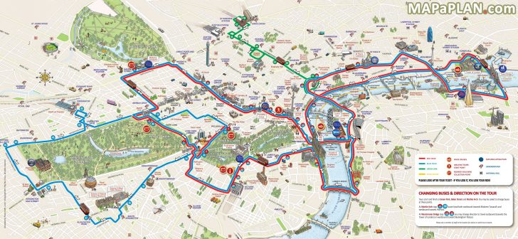 Printable Tourist Map Of London Attractions