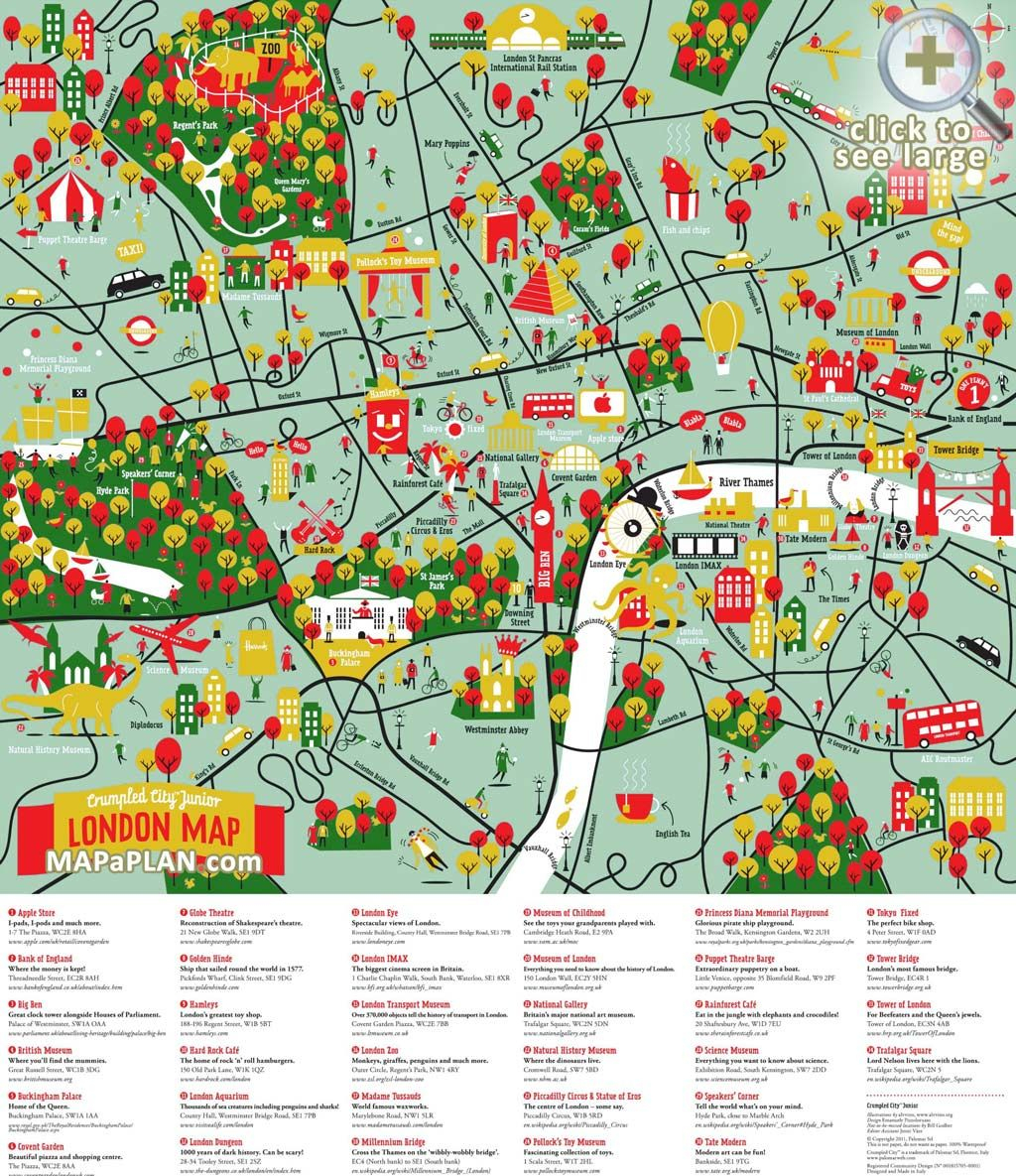 London Maps - Top Tourist Attractions - Free, Printable City Maps - Printable Map Of London England