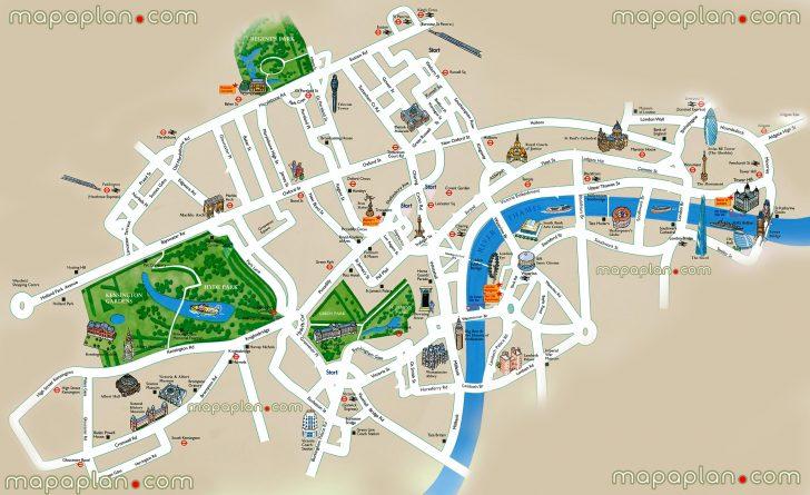 Printable Children's Map Of London