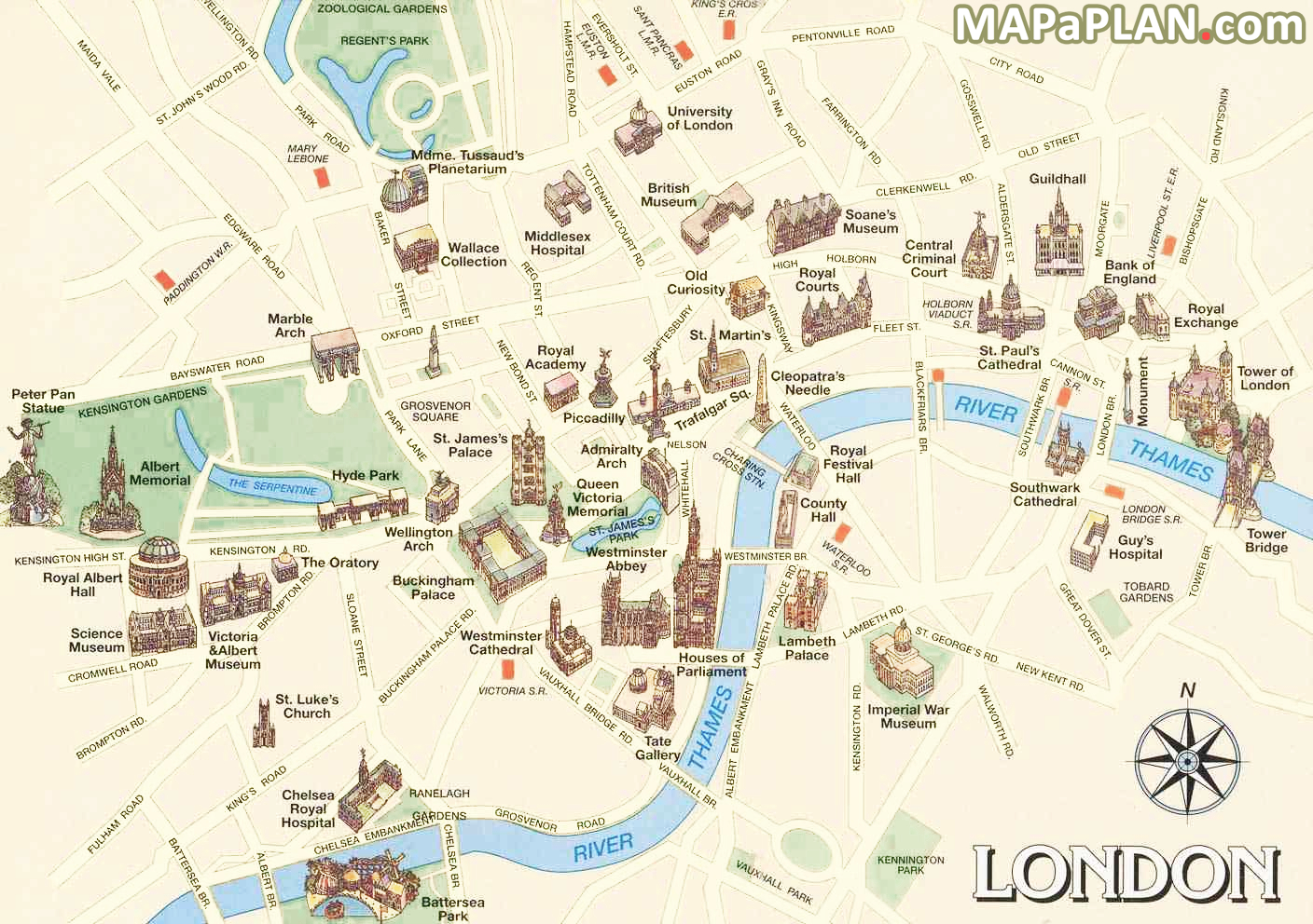 London Top Tourist Attractions Map Must See Historical Places | Maps - Free Printable Tourist Map London