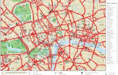 London Top Tourist Attractions Printable City Street Map – Printable City Street Maps