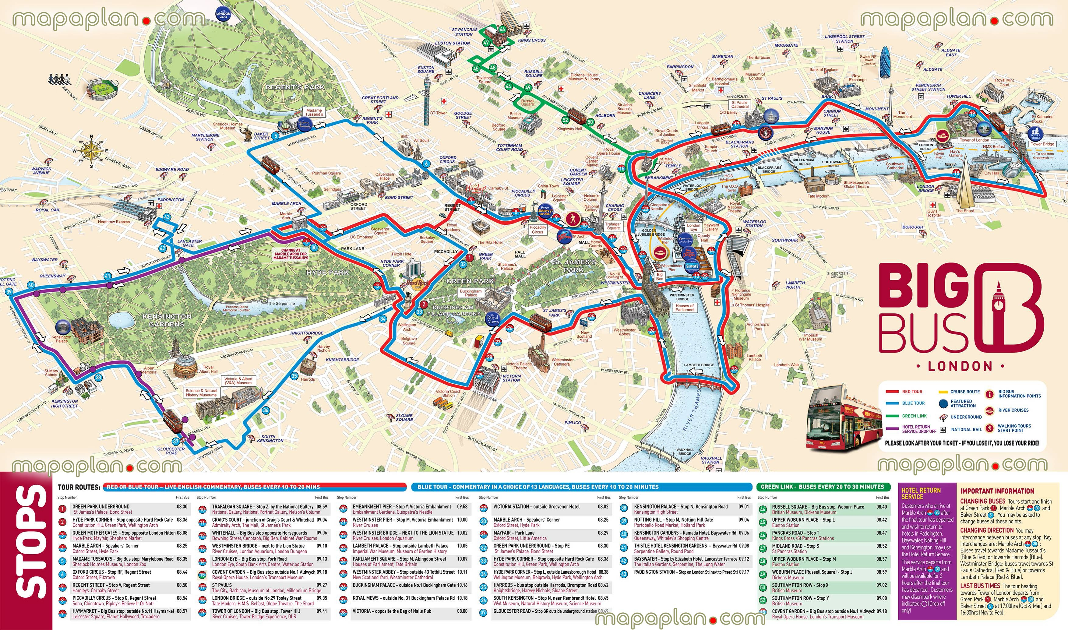 London Tourist Attractions Map Printable Download London Attractions - Printable Tourist Map Of London Attractions