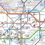 London Underground Map With Tourist Attractions – Uk Map   London Metro Map Printable