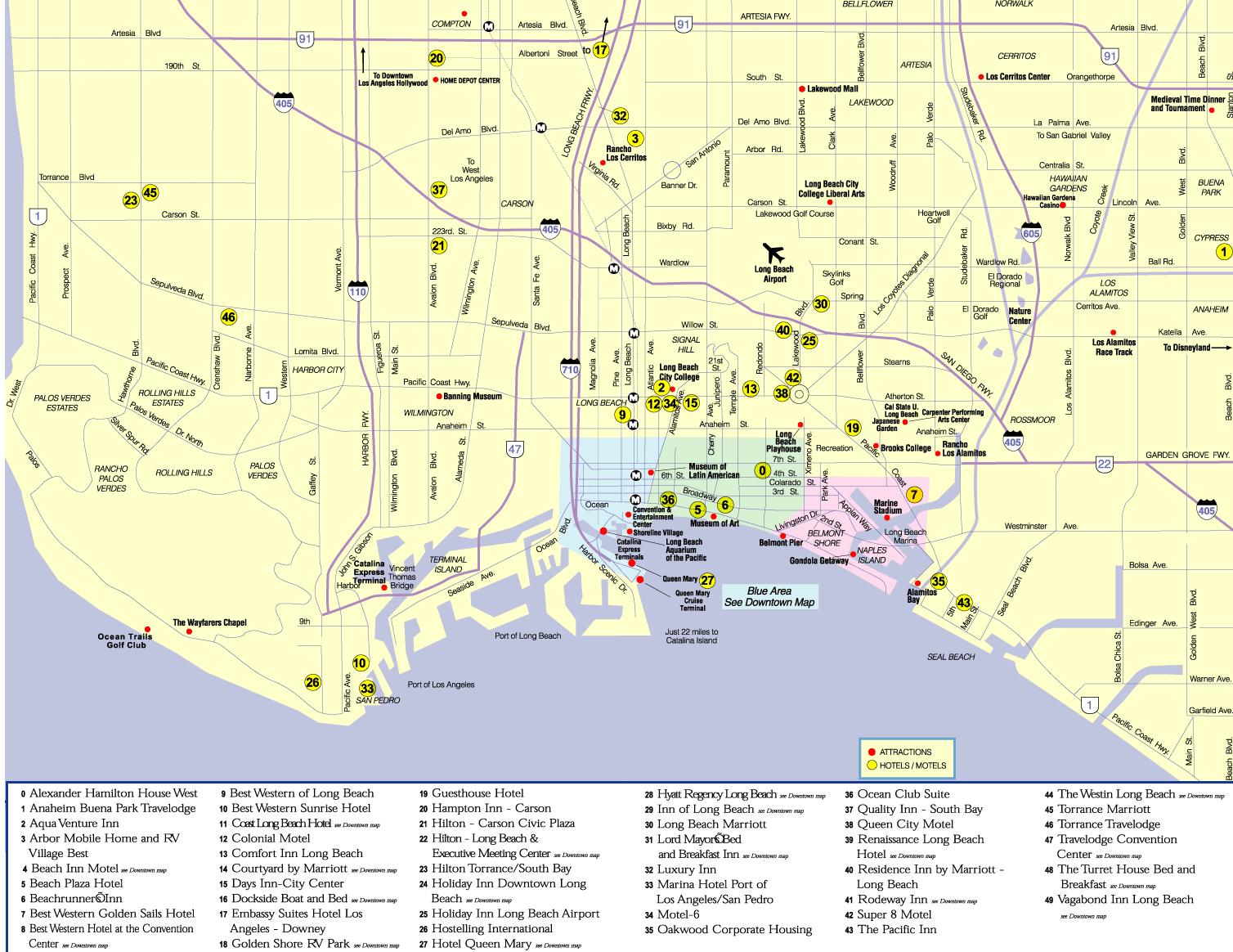 Long Beach California City Google Maps California Long Beach - Map Of Long Beach California And Surrounding Areas
