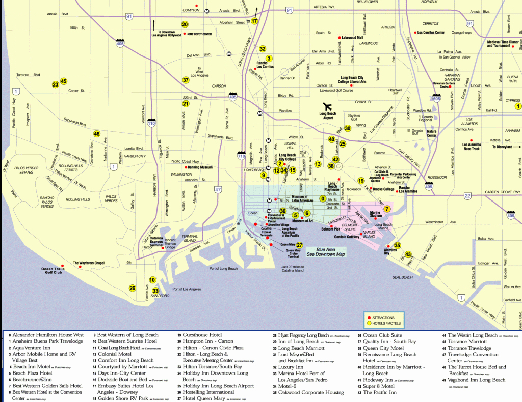 Long Beach California City Map Mappery New Blank Maps Of Southern - Best Western California Map