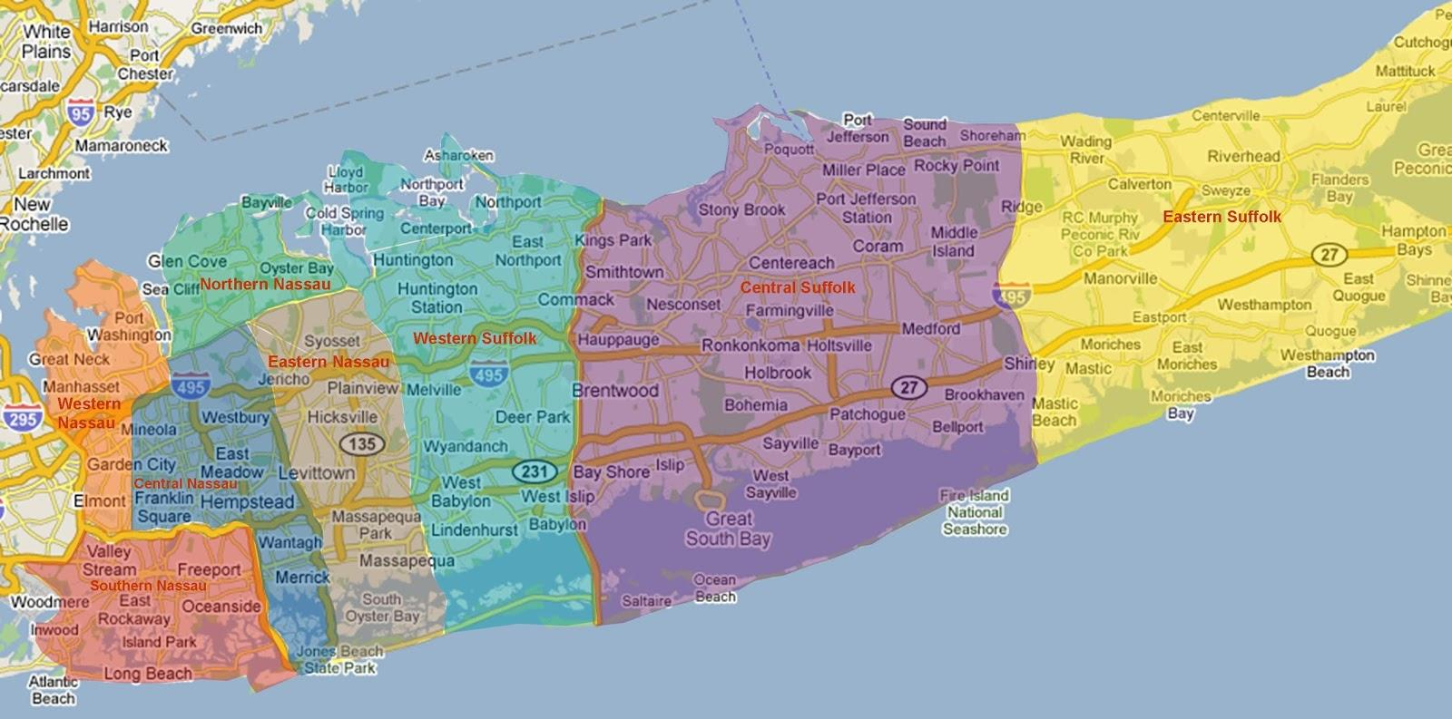 Long Island Map - Maps Long Island (New York - Usa) - Printable Map Of Suffolk County Ny