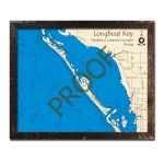 Longboat Key, Fl Nautical Wood Maps   Longboat Key Florida Map