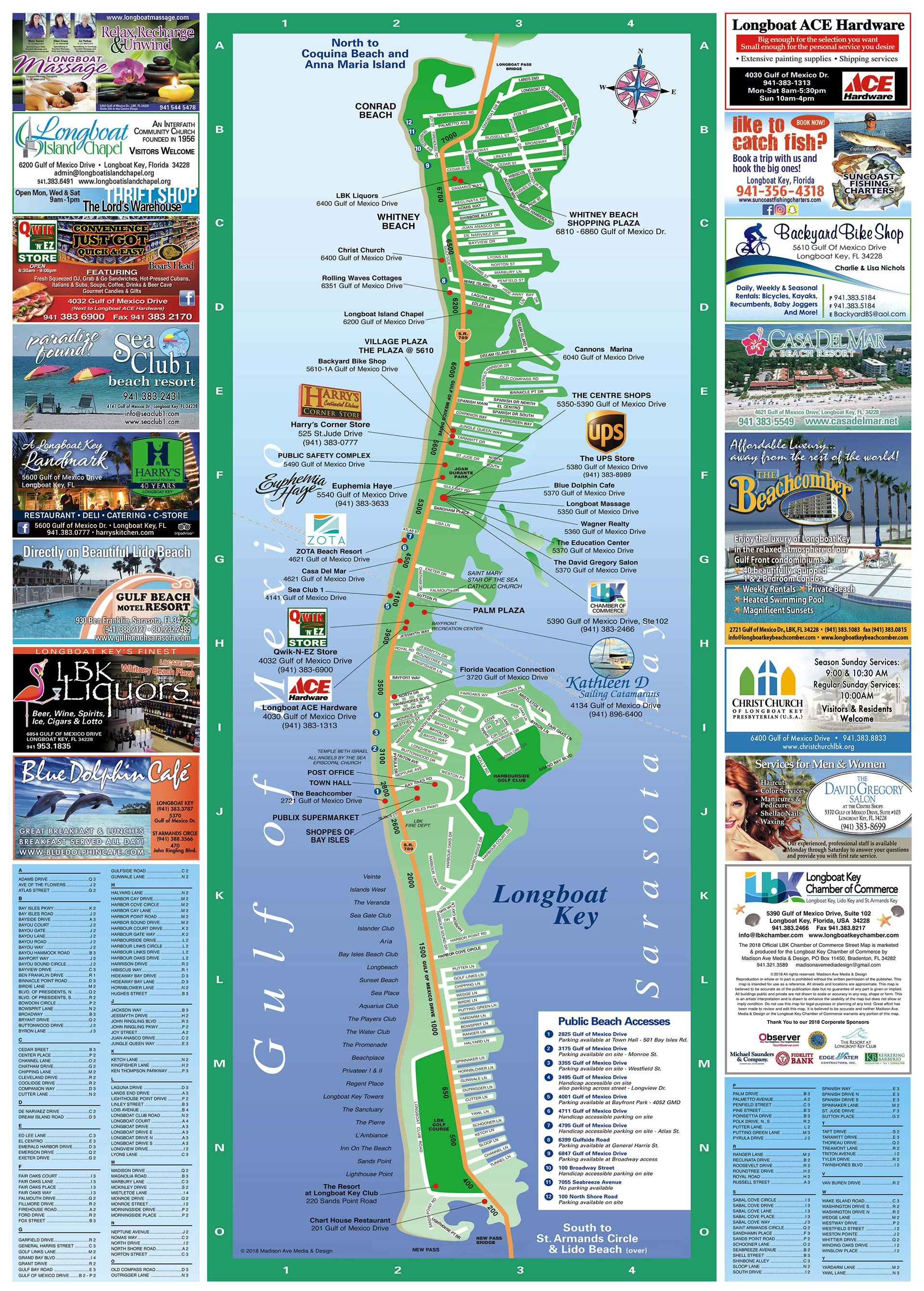 Longboat Key Map | Longboat Key Chamber Of Commerce - Lido Beach Florida Map
