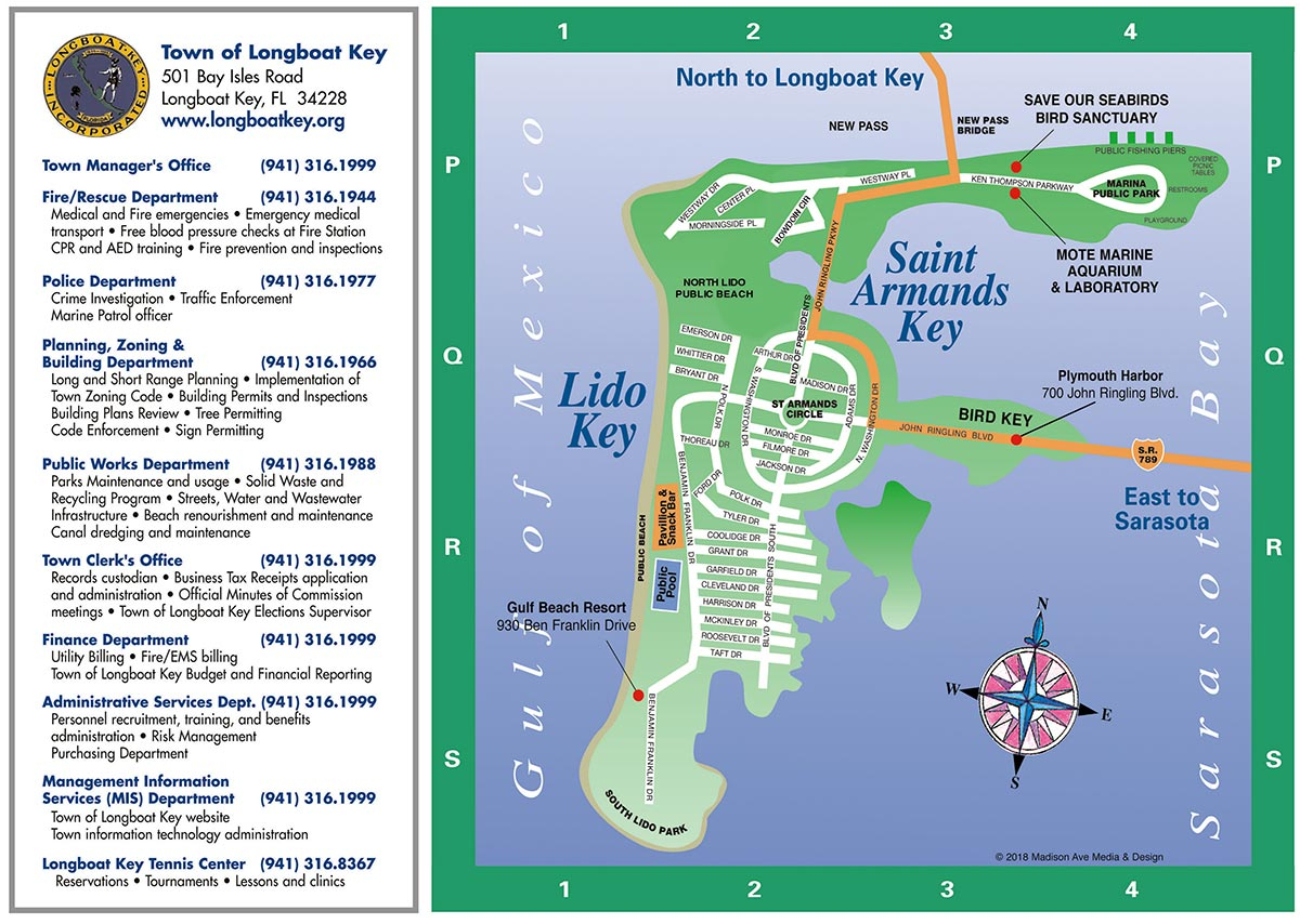 Longboat Key Map | Longboat Key Chamber Of Commerce - Longboat Key Florida Map