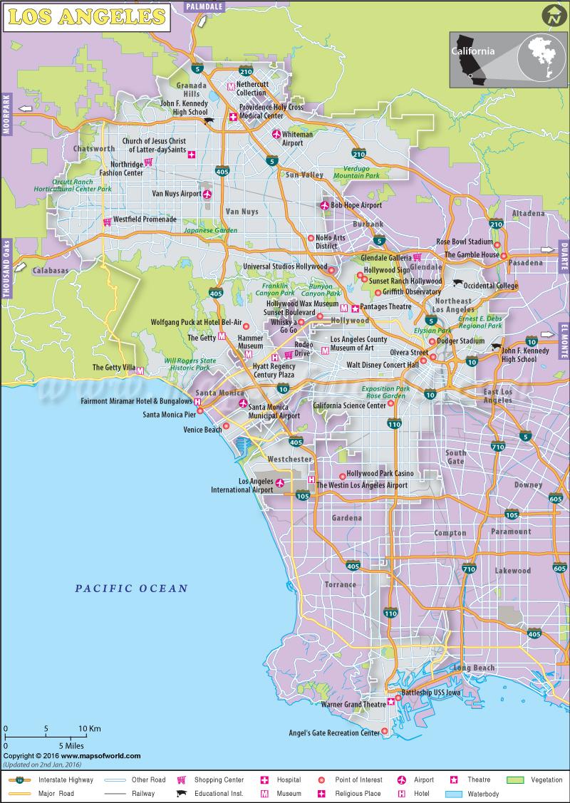 Los Angeles City Map Htm Google Maps California Map Of Los Angeles - Los Angeles California Google Maps