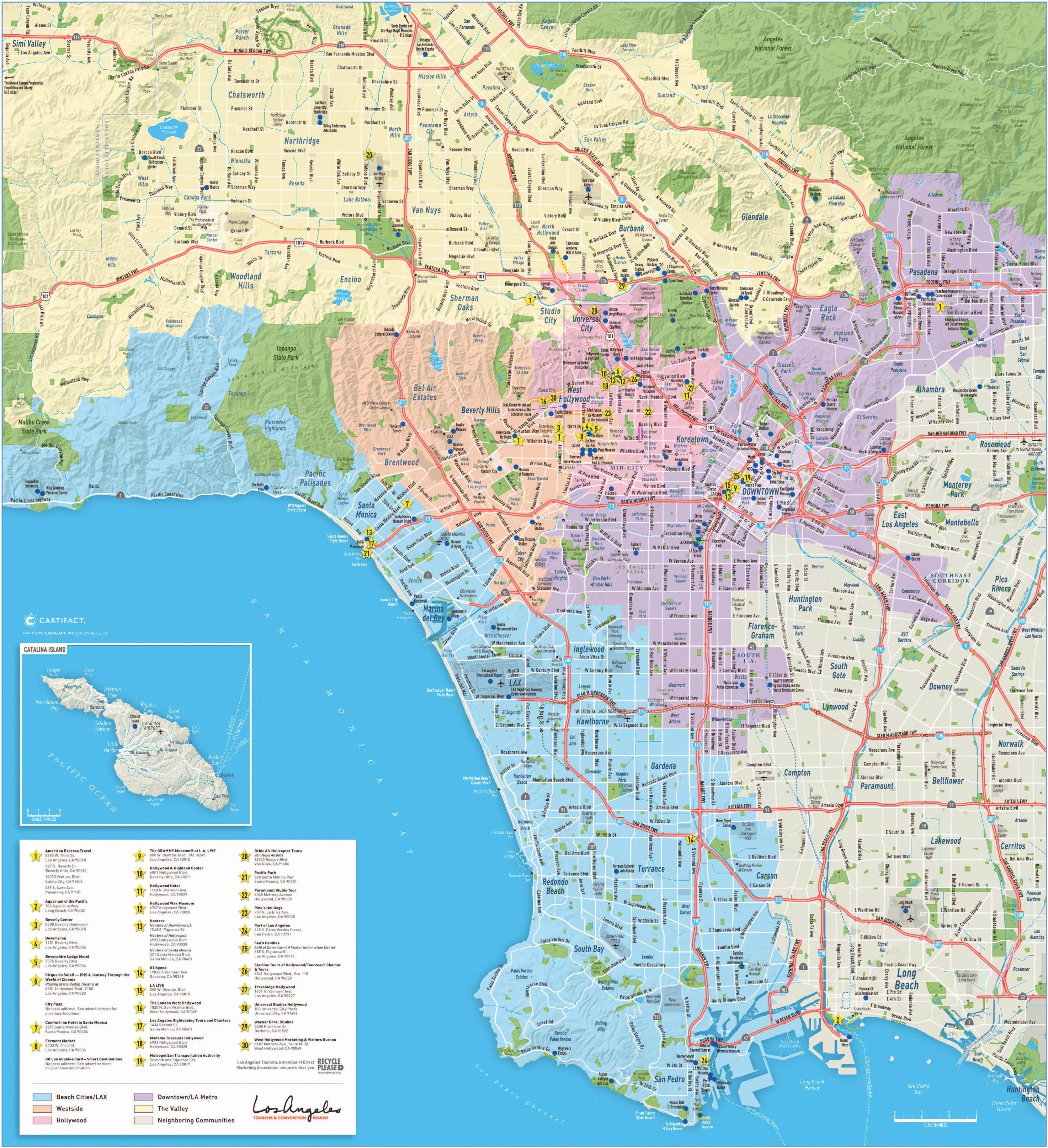 Los Angeles Maps | California, U.s. | Maps Of L.a. (Los Angeles) - Map Of Los Angeles California Area