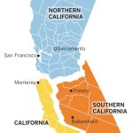 "Los Angeles Times On Twitter: ""radical Plan To Split California Into   Three State California Map"