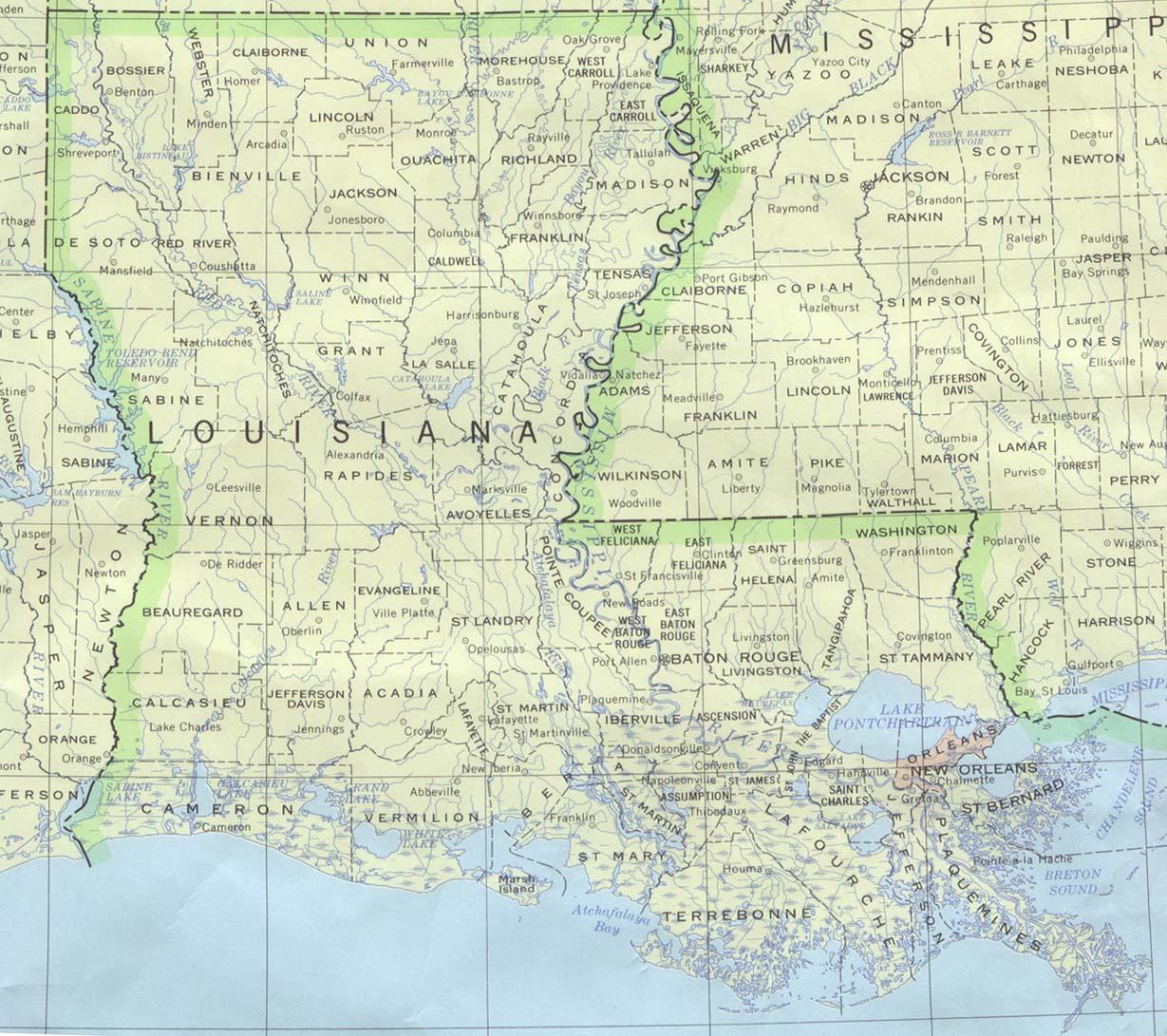 Louisiana Maps - Perry-Castañeda Map Collection - Ut Library Online - Texas Louisiana Map