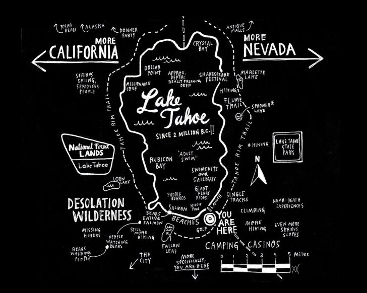 Printable Map Of Lake Tahoe