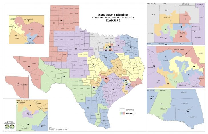 Texas House Of Representatives District Map