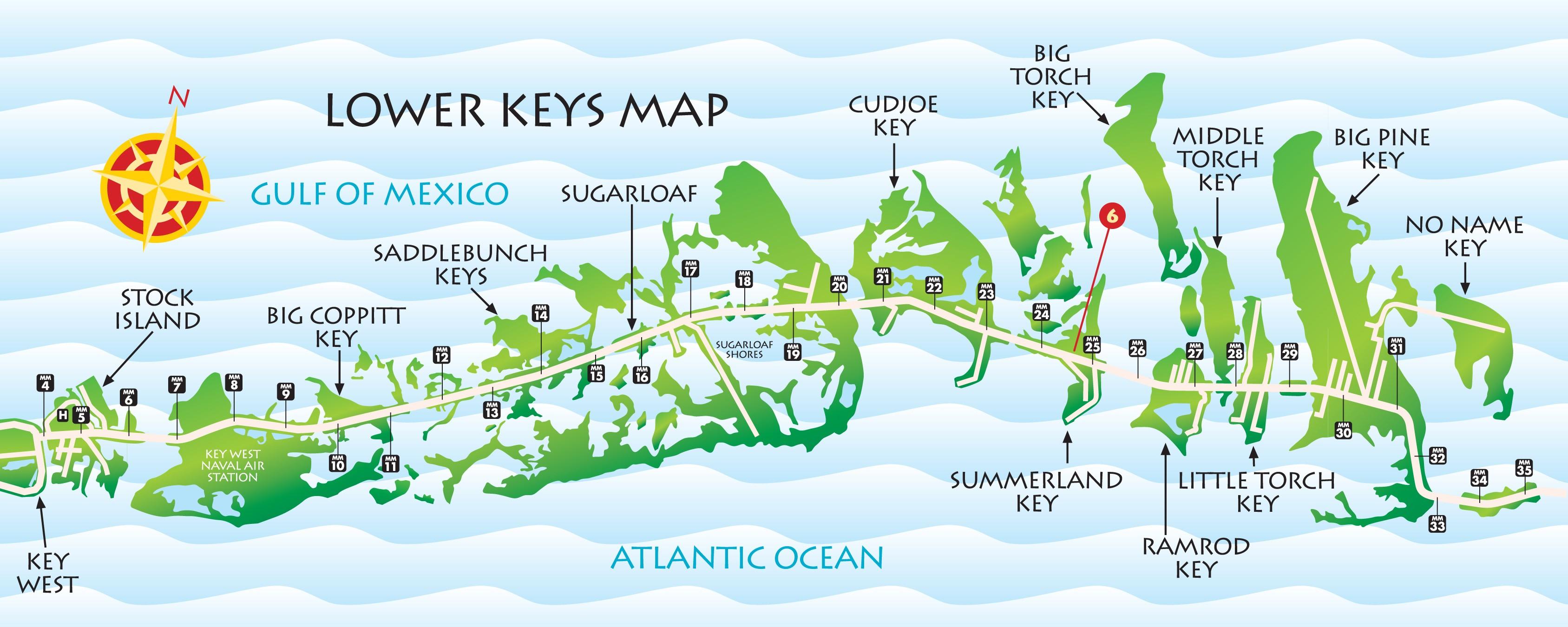 Lower Keys Map | Key West / Florida Keys Money Saving Discount Coupons - Map Of Lower Florida Keys