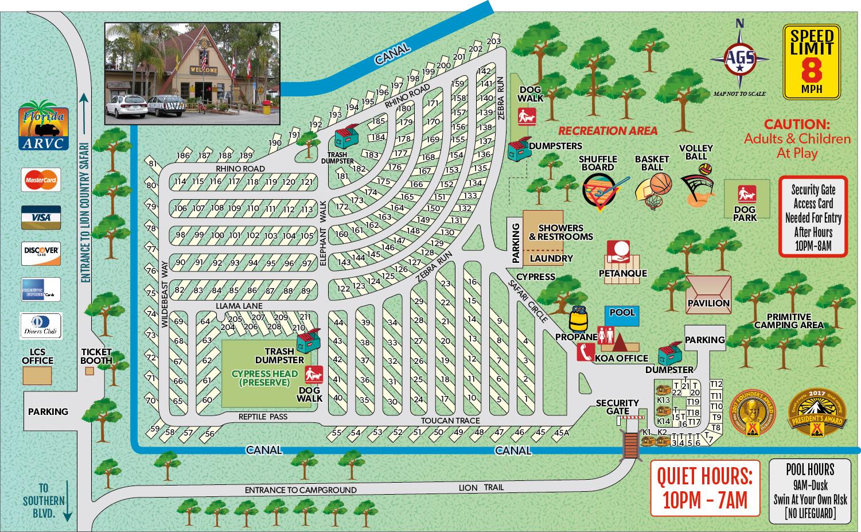 Loxahatchee, Florida Campground | West Palm Beach / Lion Country - Koa Florida Map