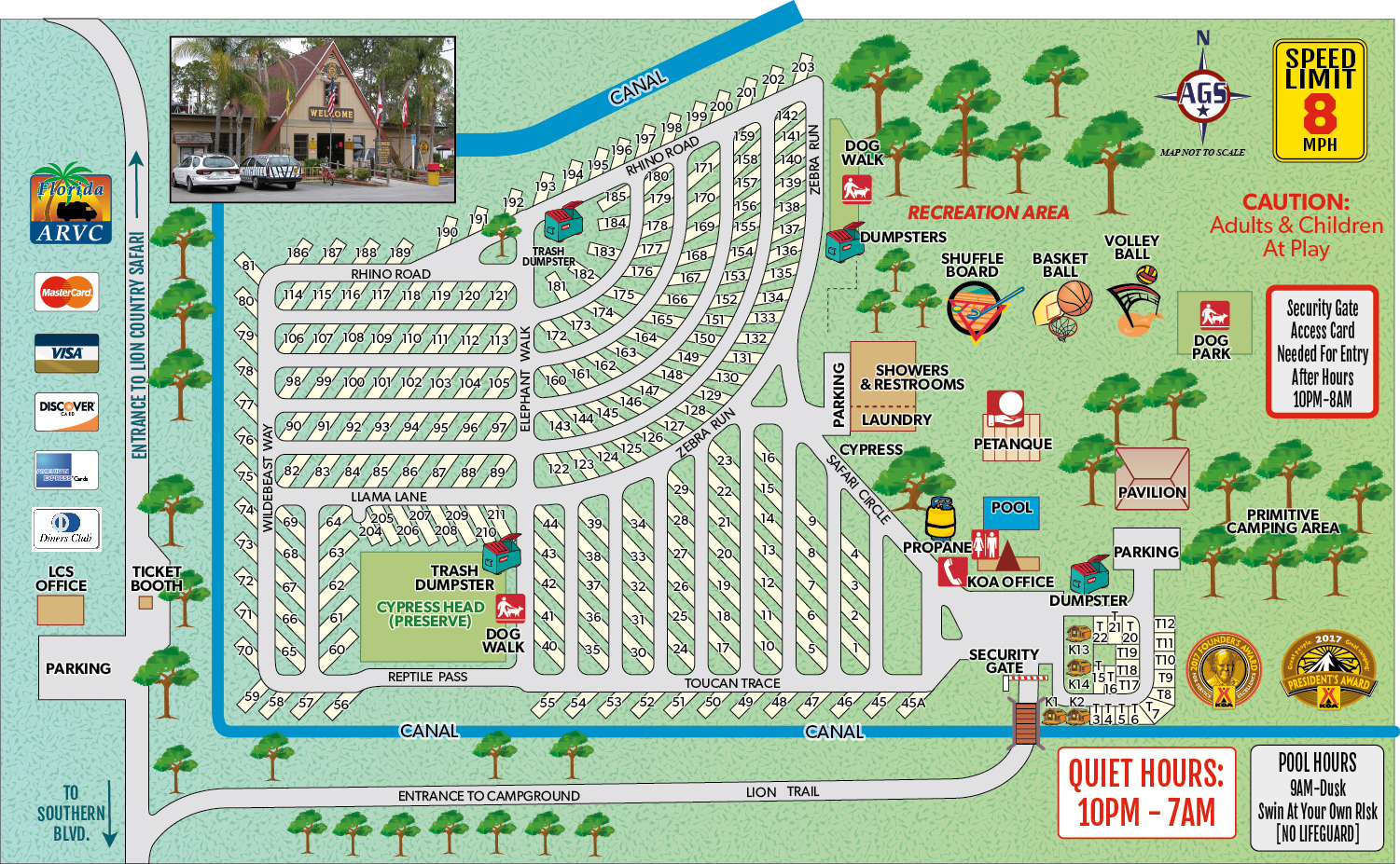 Loxahatchee, Florida Campground | West Palm Beach / Lion Country - Lion Country Safari Florida Map