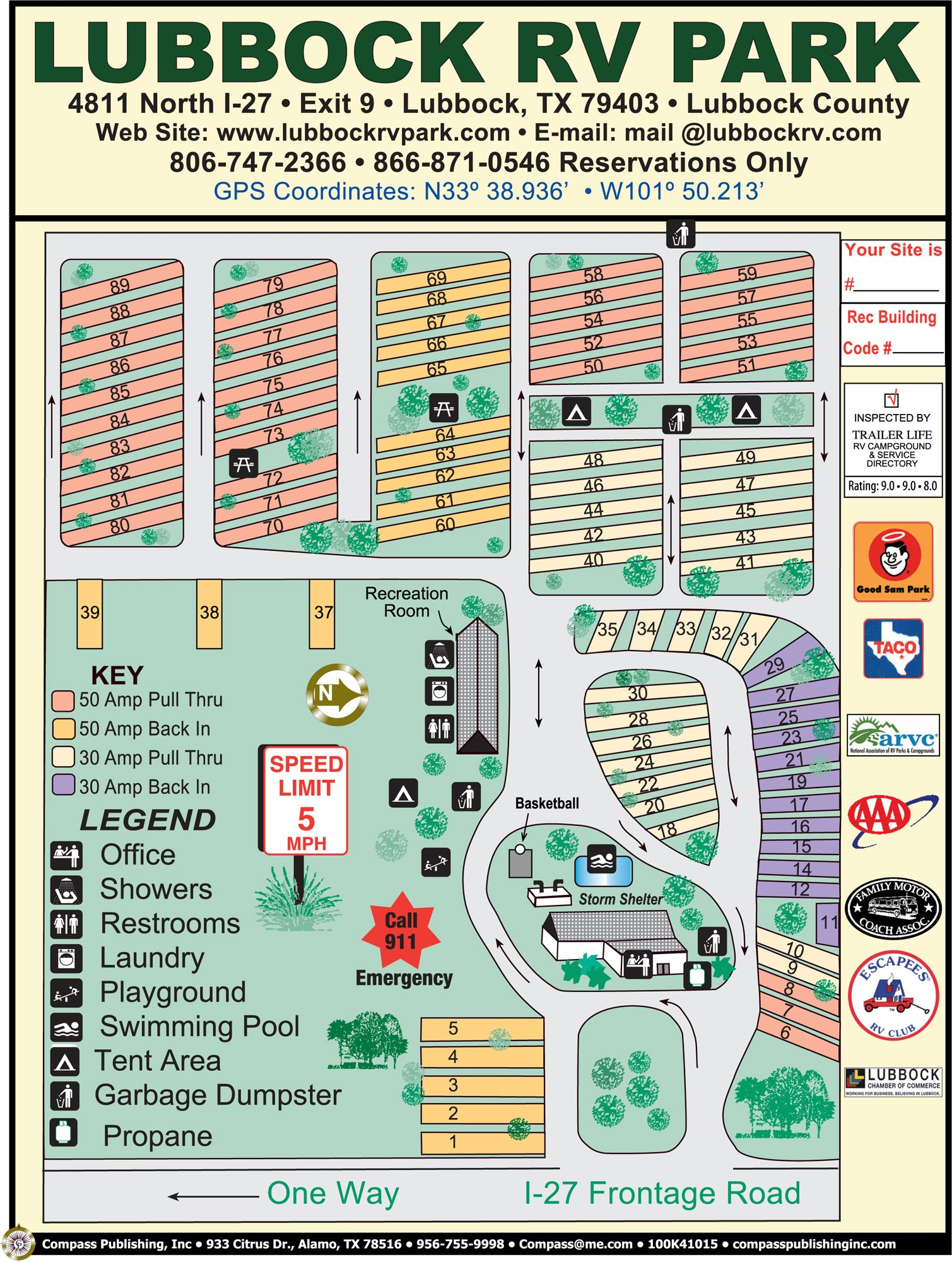 Lubbock Rv Park Inc. | Photo Gallery - Texas Rv Parks Map