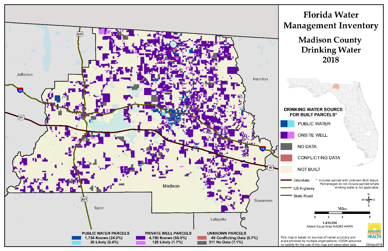 Madison Florida Water Management Inventory Summary | Florida - Madison Florida Map