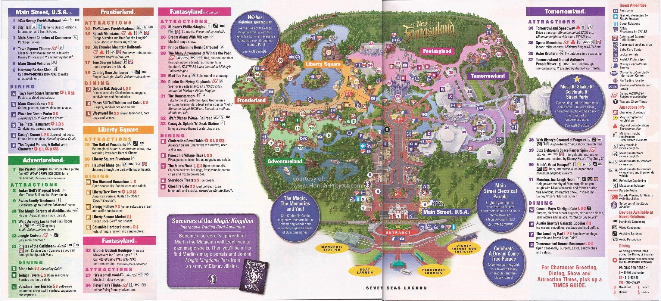 Magic Kingdom Guidemaps - Magic Kingdom Florida Map