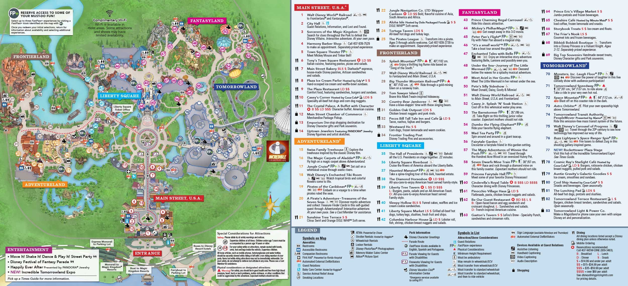 Magic Kingdom Park Map | Disney In 2019 | Pinterest | Disney, Magic - Magic Kingdom Orlando Florida Map