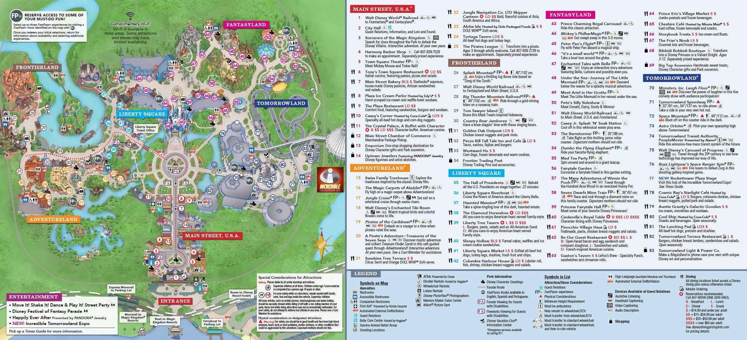 Magic Kingdom Park Map | Disney In 2019 | Pinterest | Disney World - Map Of Magic Kingdom Orlando Florida