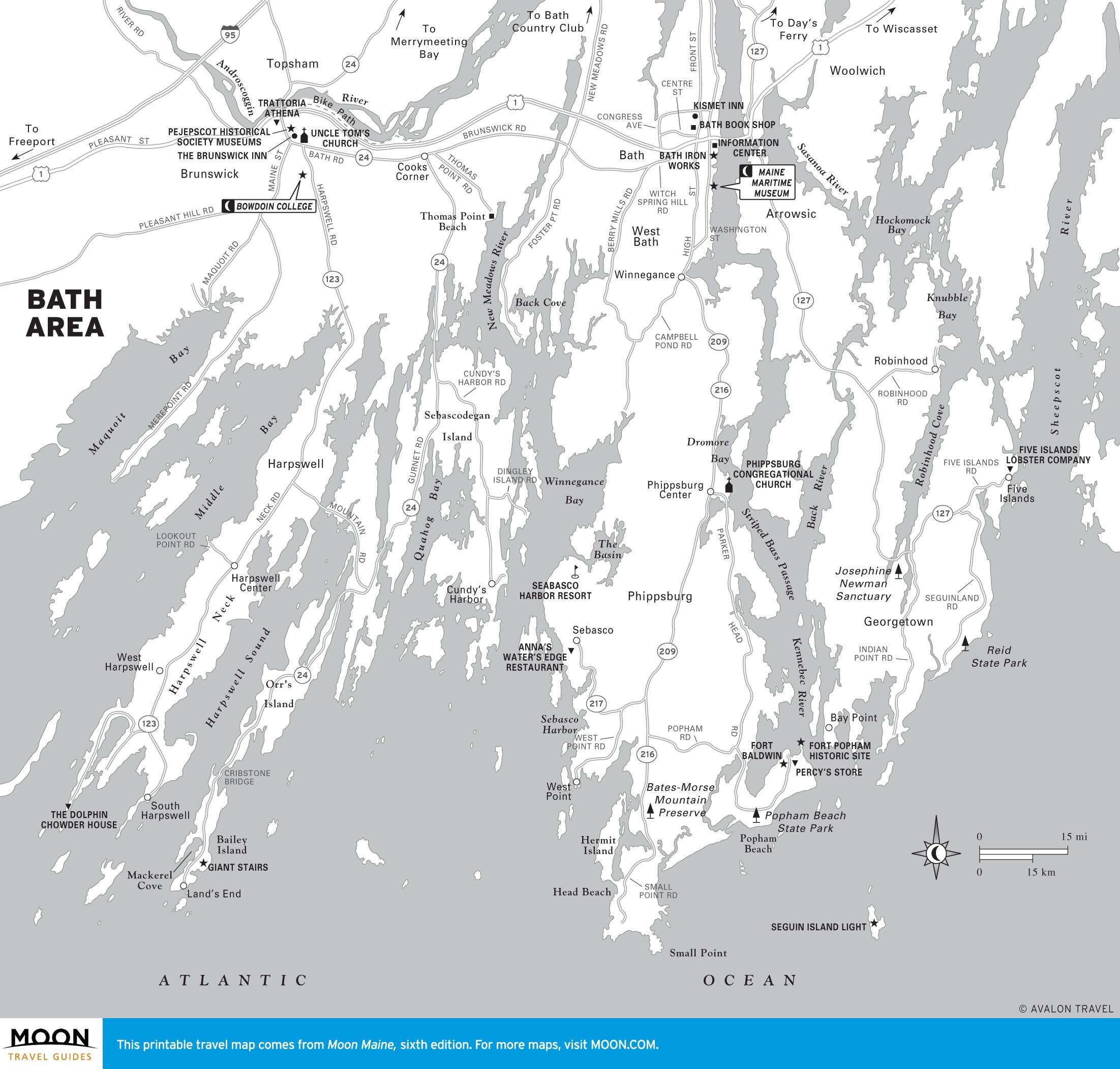 Maine Travel The World - Printable Map Of Maine Coast