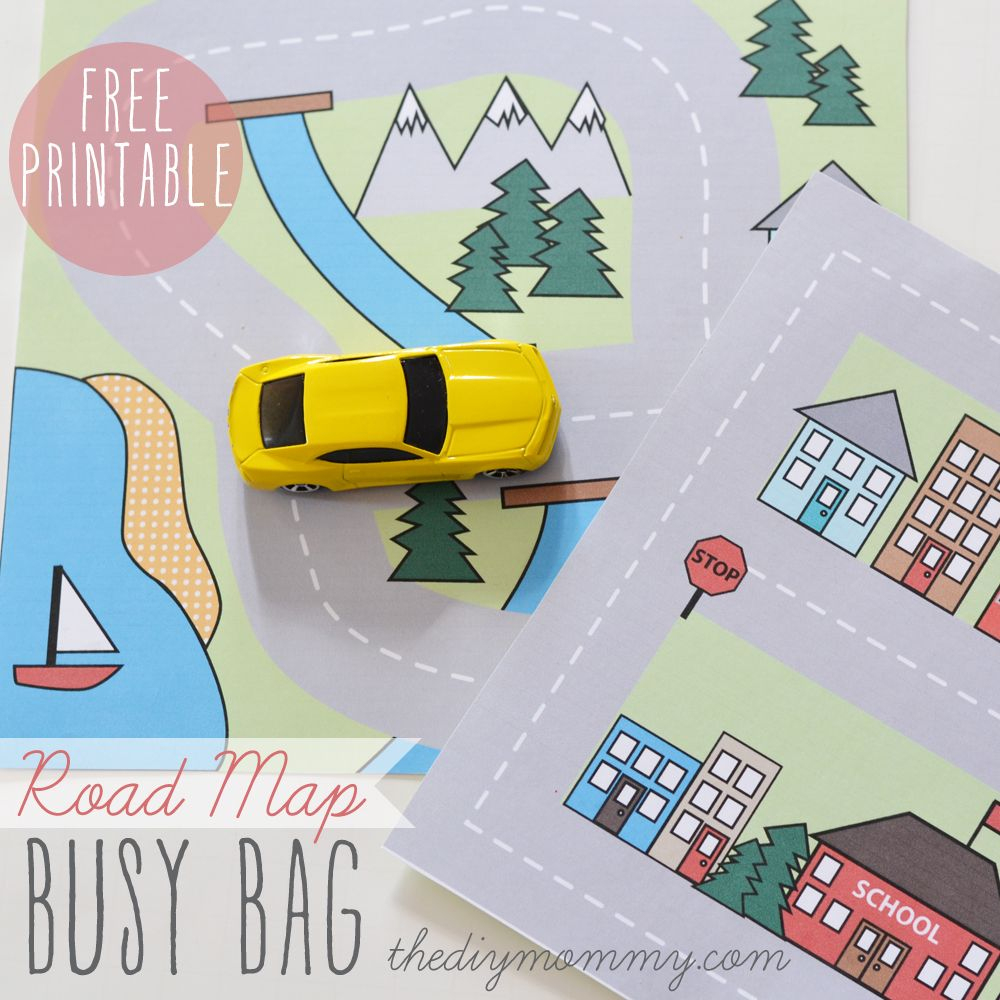 Make A Mini Road Map Busy Bag - Free Printable | Did It! Review Of - Printable Travel Map