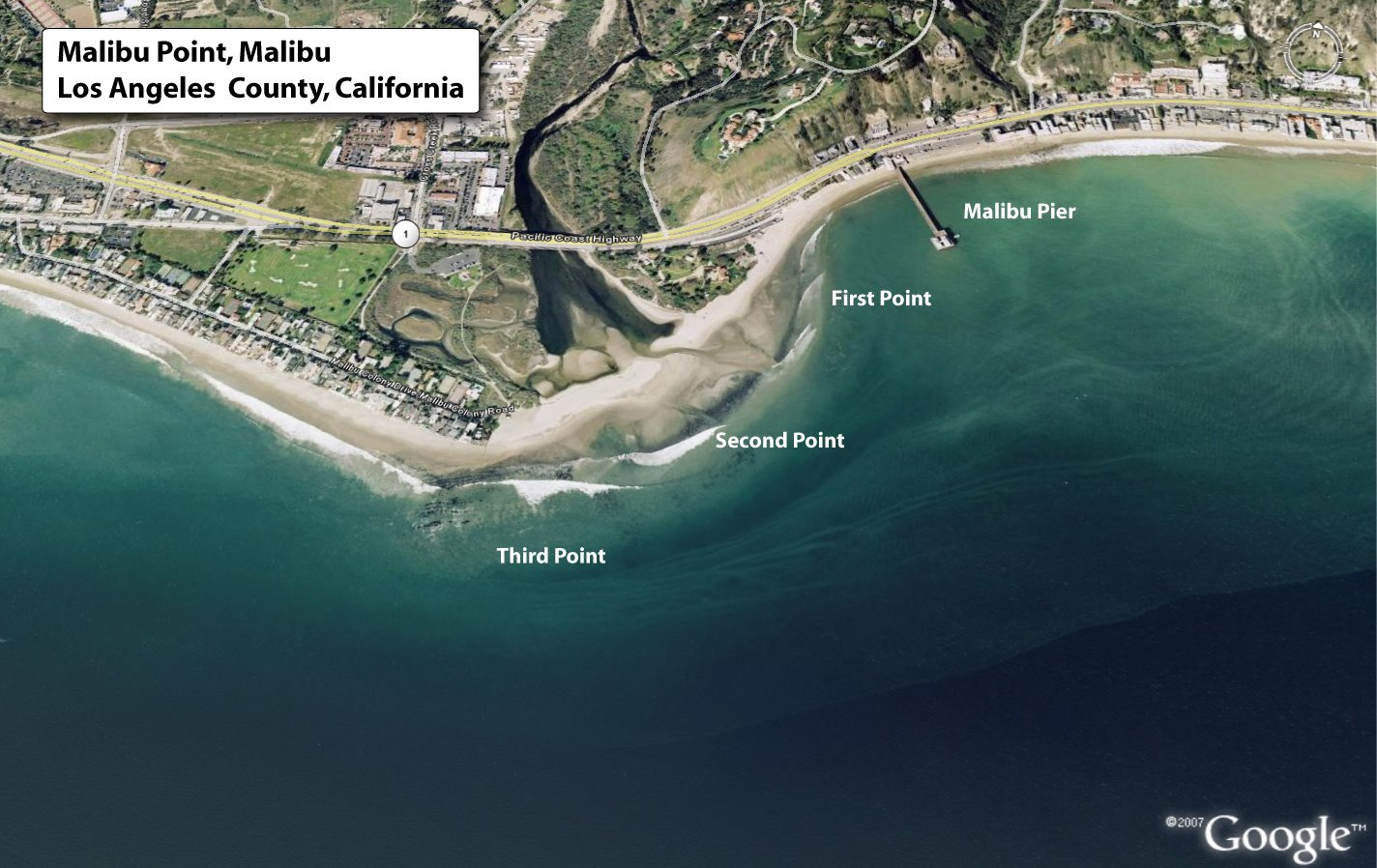 Malibu Point, Malibu, Los Angeles County, California - Solspot - Surf Spots In California Map