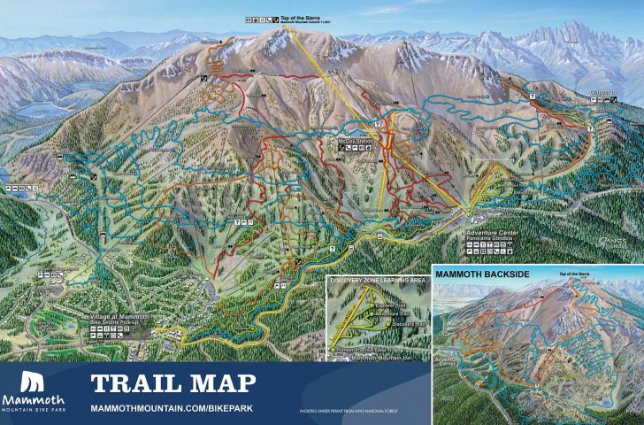 Mammoth Mountain Map California