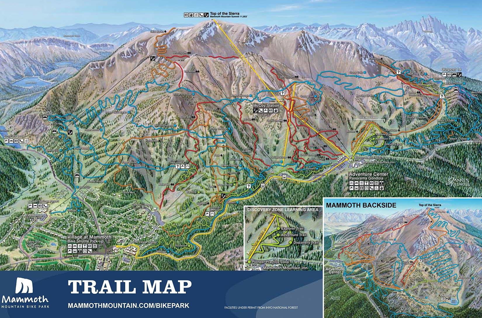 Mammoth Mountain Map California - Klipy - Mammoth Mountain Map California