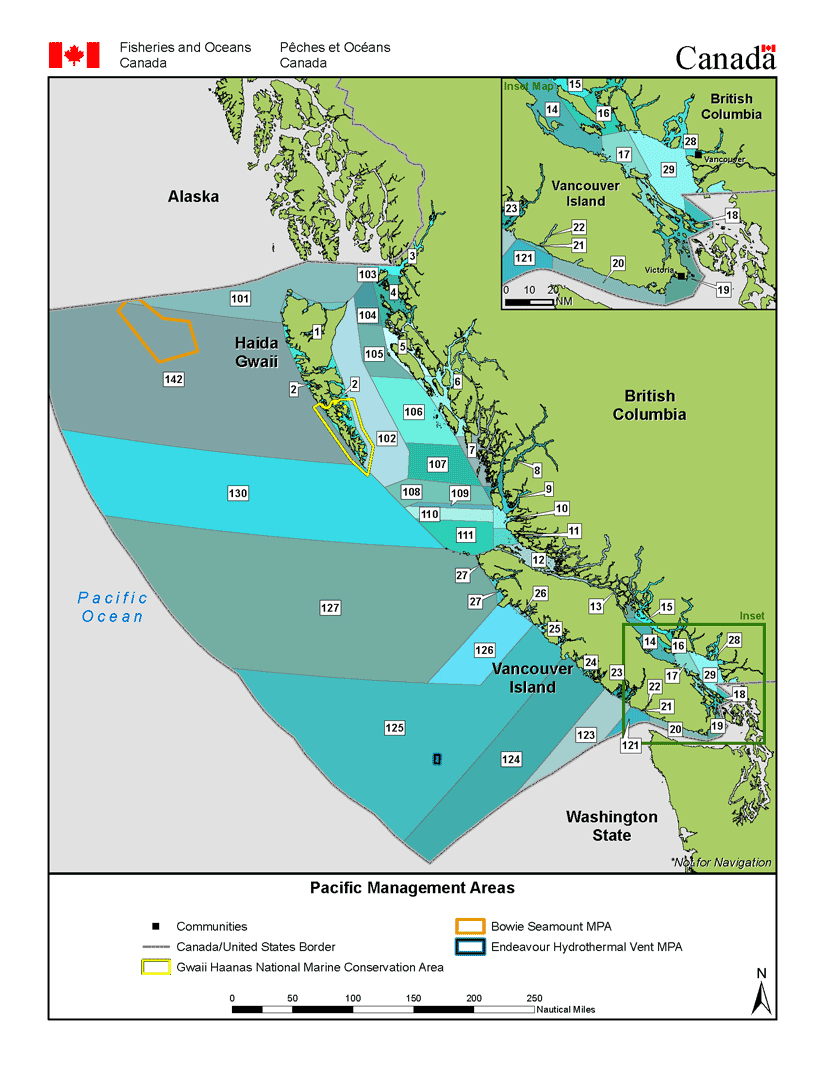 Management Area Maps | Fisheries And Oceans Canada, Pacific Region - Northern California Fishing Map