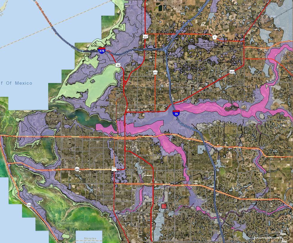 Manatee Flooding Concerns Both Commissioners And Residents | Wusf News - Fema Flood Zone Map Sarasota County Florida