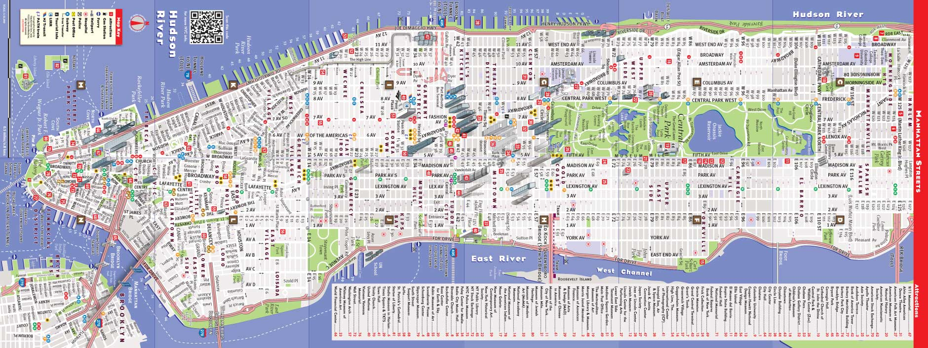 Manhattan New York Map Street Map Midtown New York City Streets Map - Printable Street Map Of Midtown Manhattan