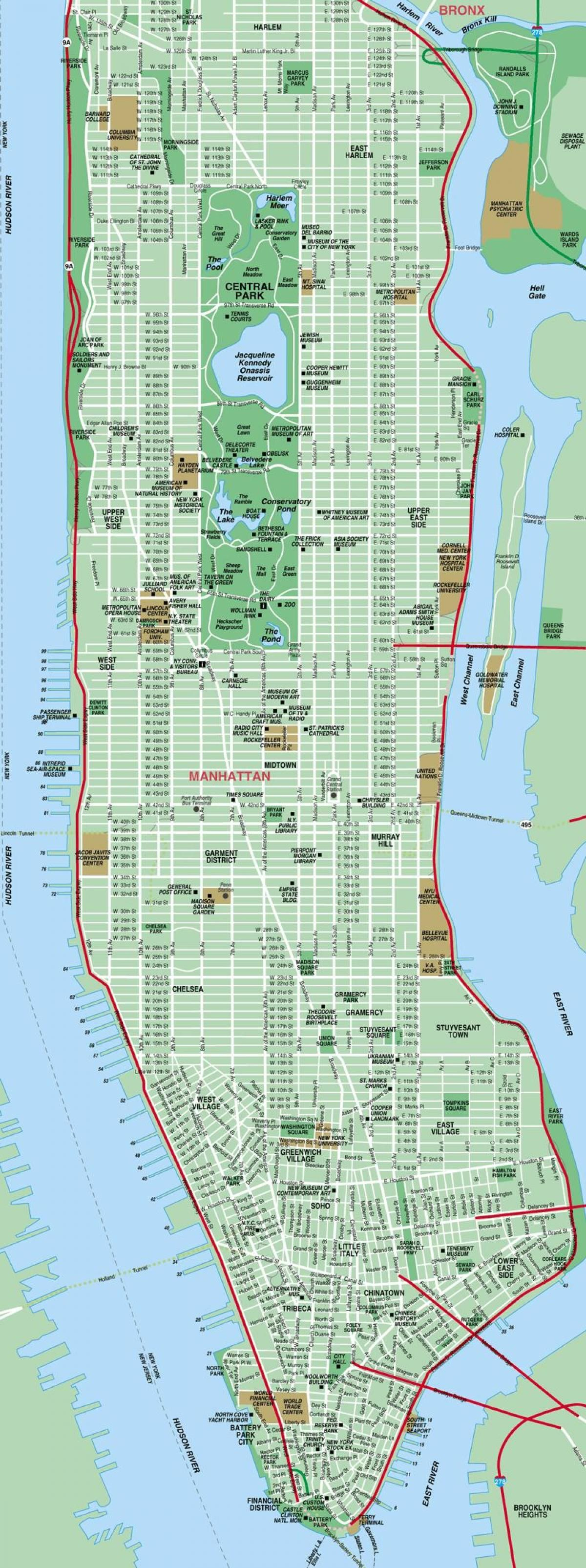 Manhattan Street Map At Printable Manhattan Street Map | Manhattan - Printable Street Map Of Manhattan