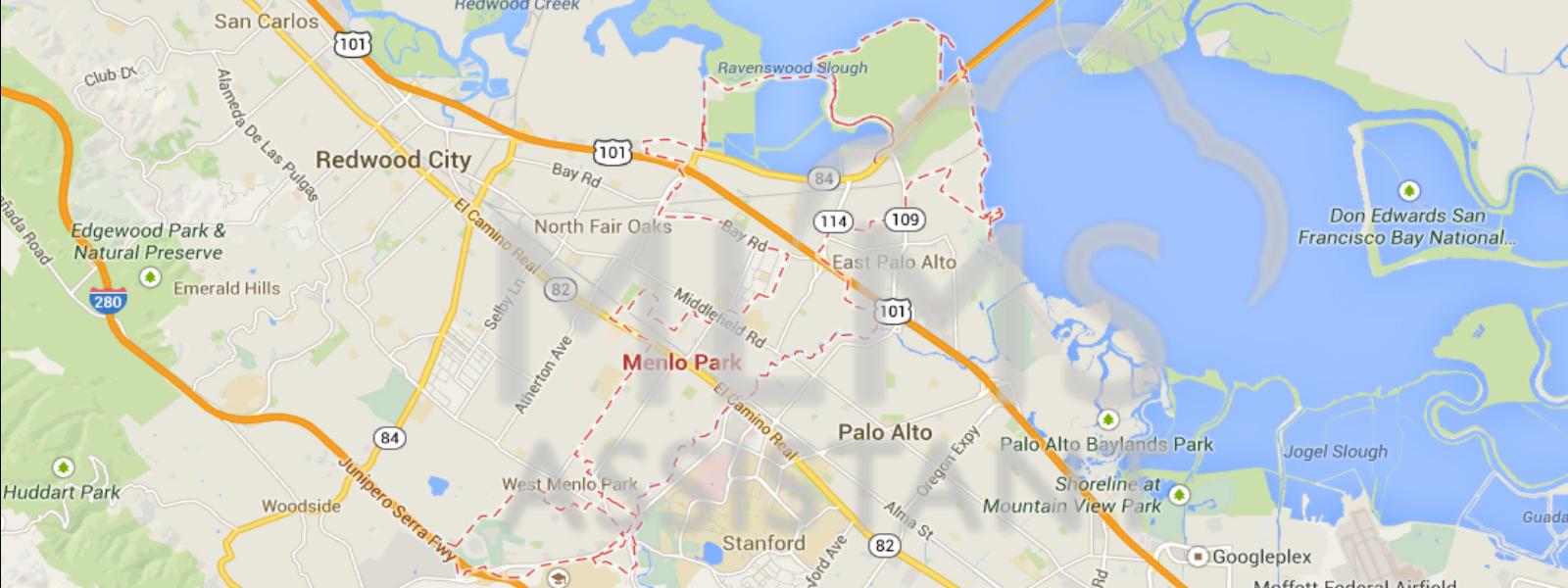 Map 25 (Menlo Park, Ca) | Maps | Pinterest | Menlo Park - Menlo Park California Map