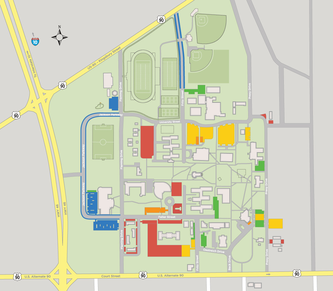 Map And Directions - Texas State Dorm Map