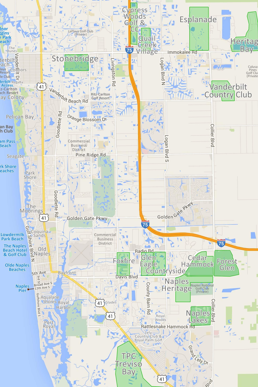Map Bundled Of Florida Golf Courses 7 | Globalsupportinitiative - Florida Golf Courses Map
