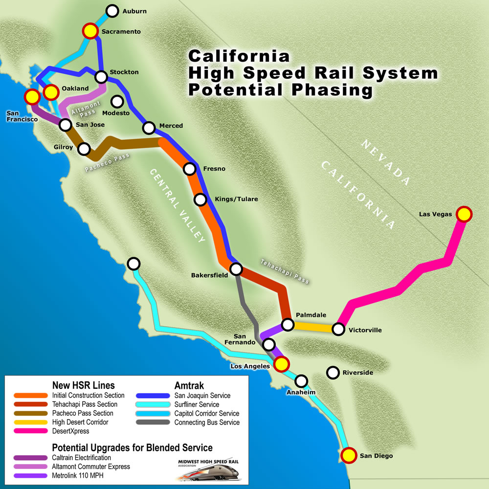 Map Cahsr Phasing Full Download Maps Southern California Amtrak Map - Amtrak California Surfliner Map