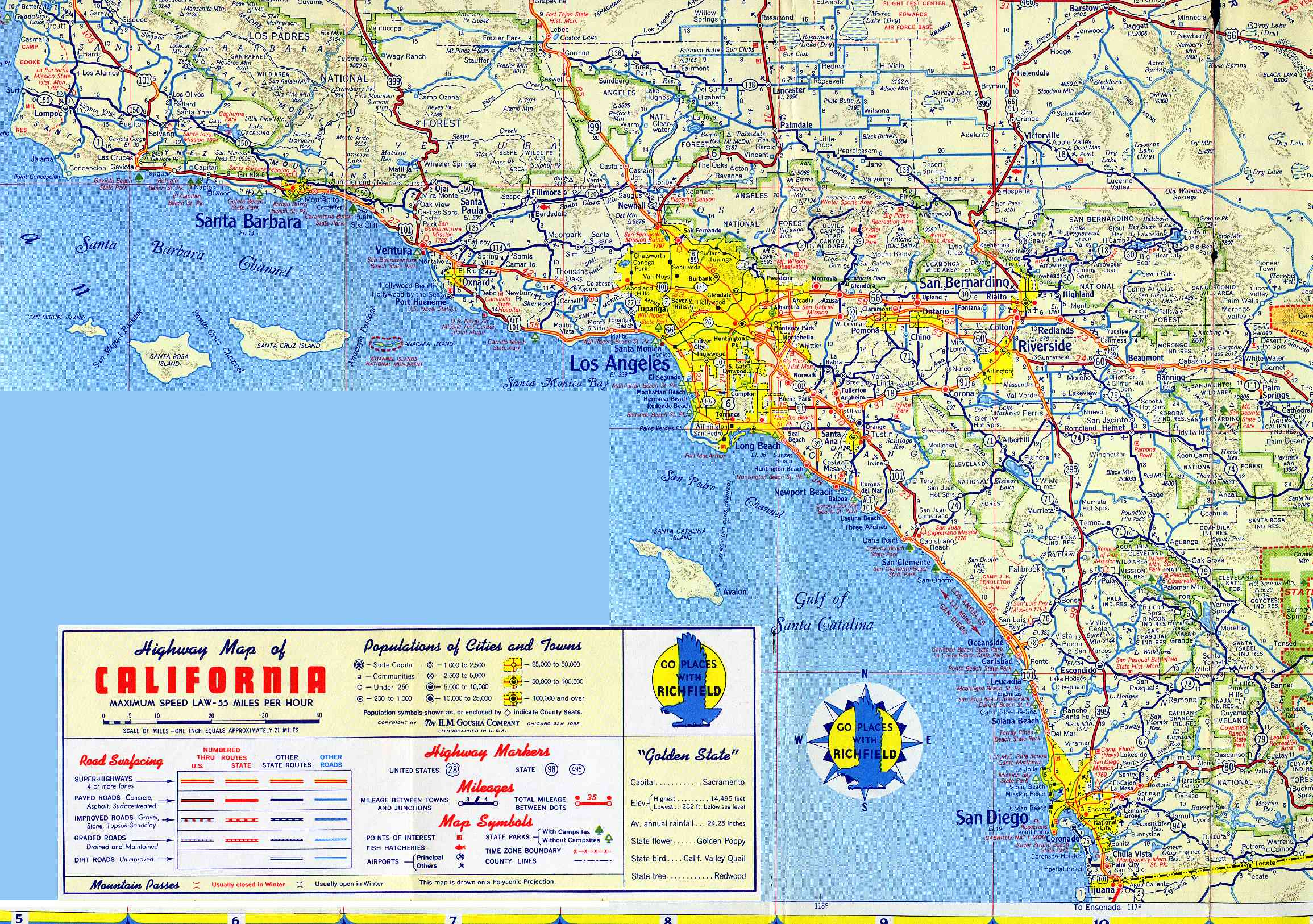 Map California Driving Map Of Southern California Map Hd Detailed - Flying J California Map