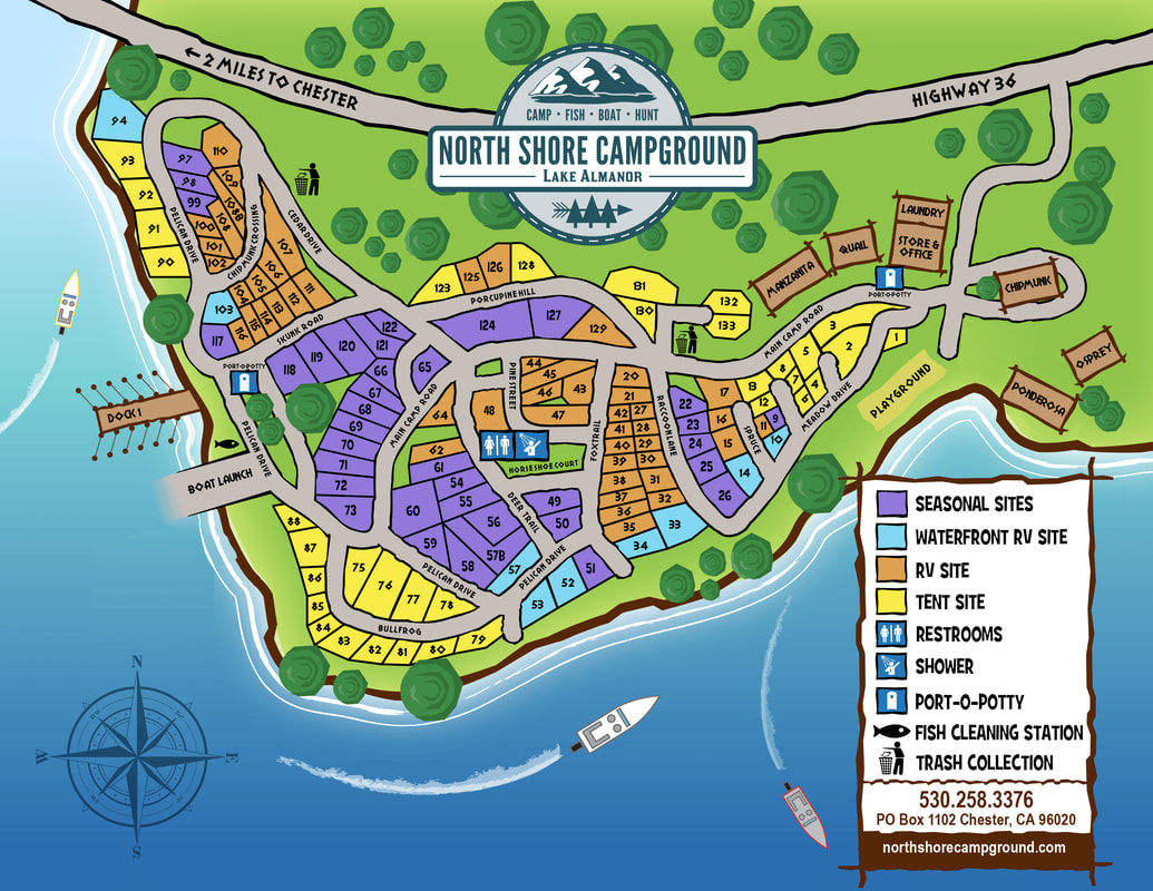Map | Campsite Locations | North Shore Campground - California Campgrounds Map