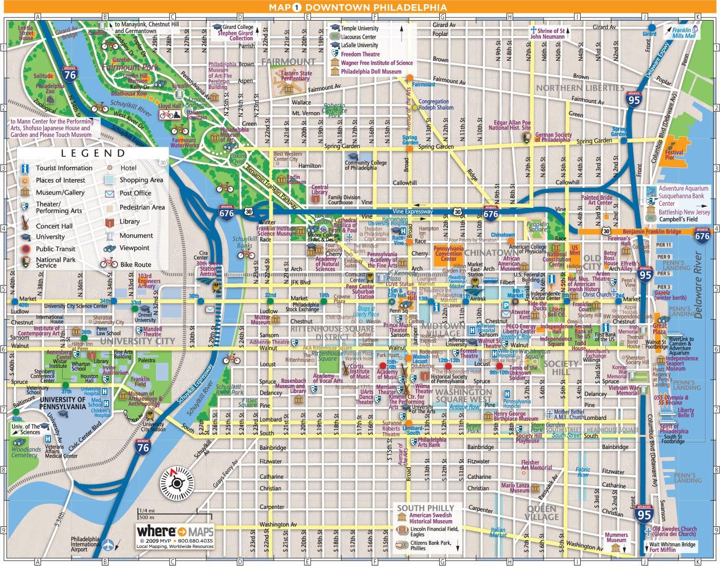Map Center City Philadelphia Clipart Collection - Philadelphia Tourist Map Printable