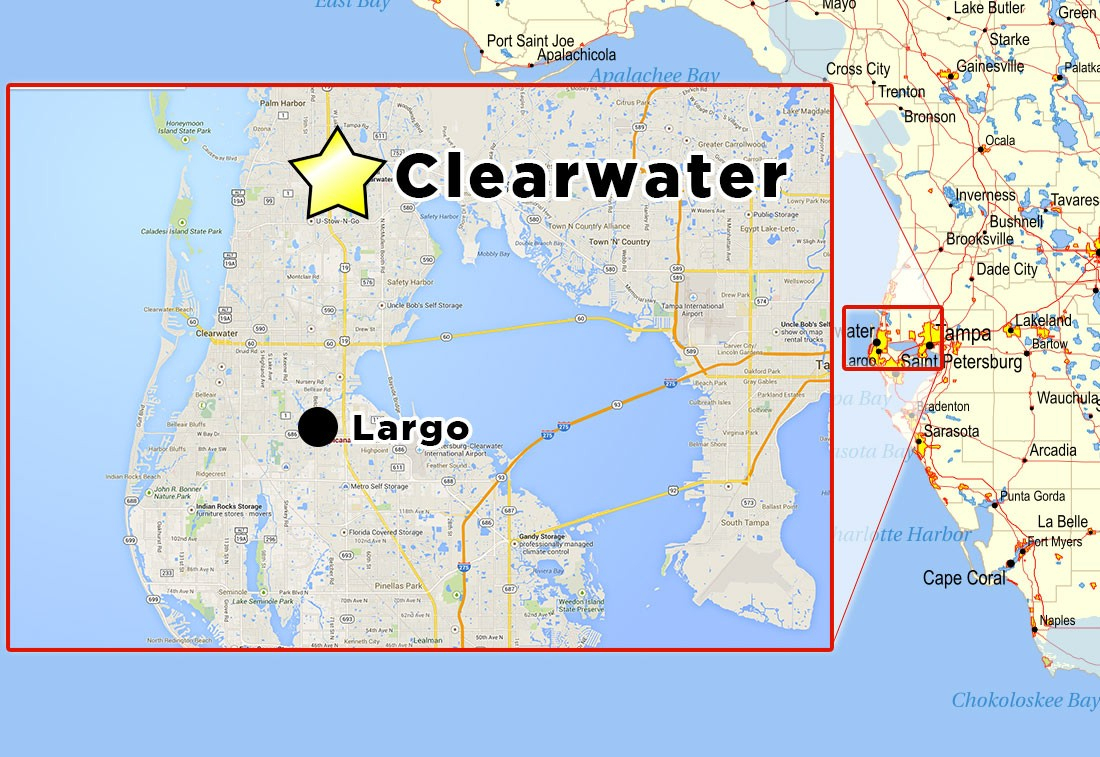Map Clearwater Florida | D1Softball - Map Of Clearwater Florida And Surrounding Areas